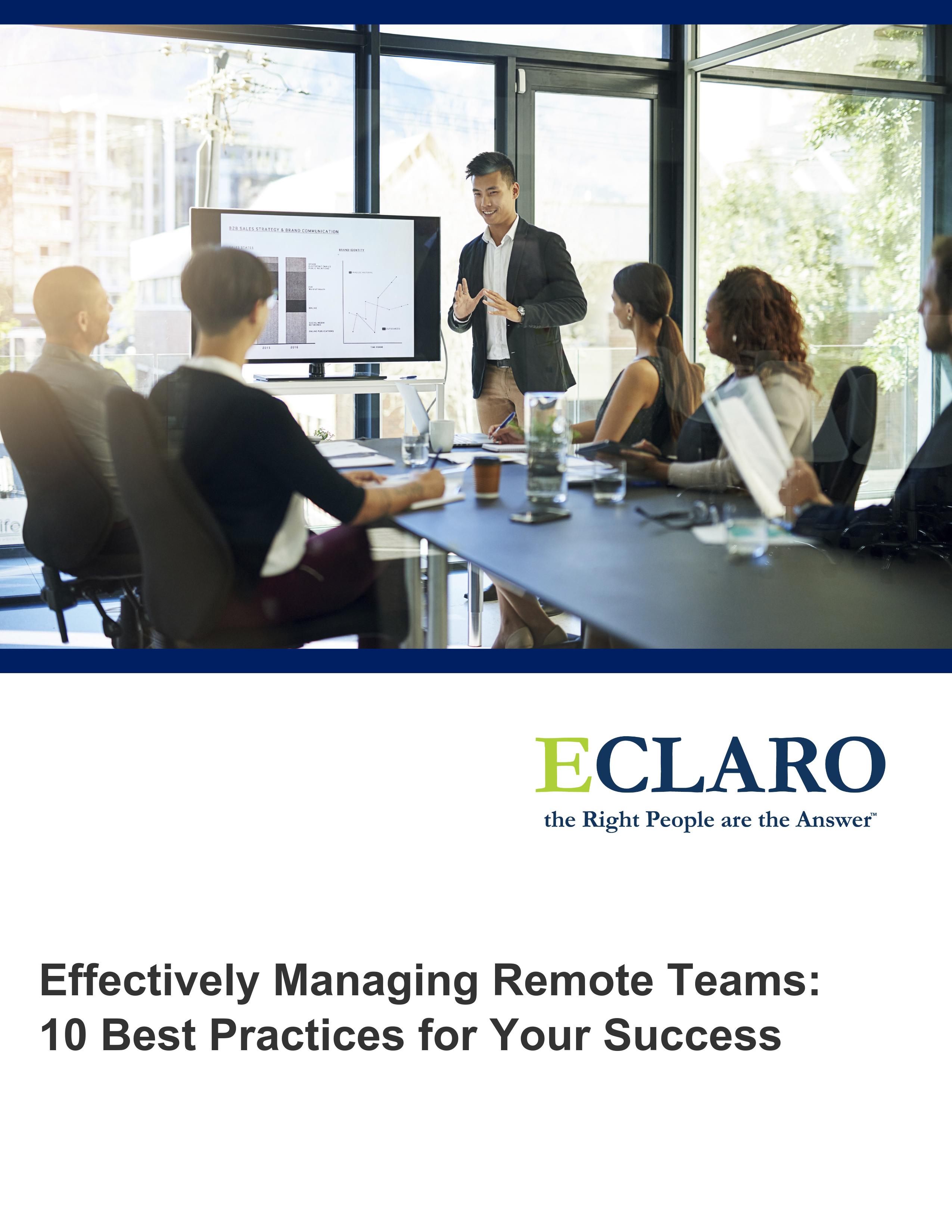 Effectively Managing Remote Teams